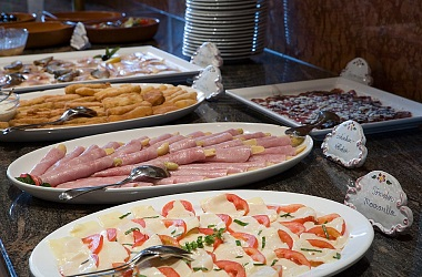 Delicacies from our buffet
